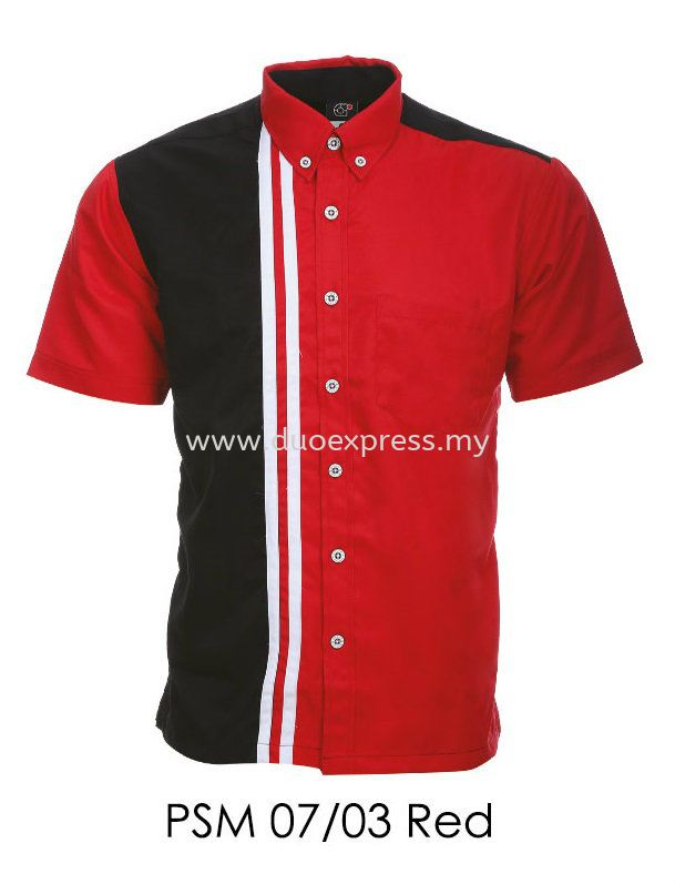 PSM 07 03 Red Unisex Corporate Shirt