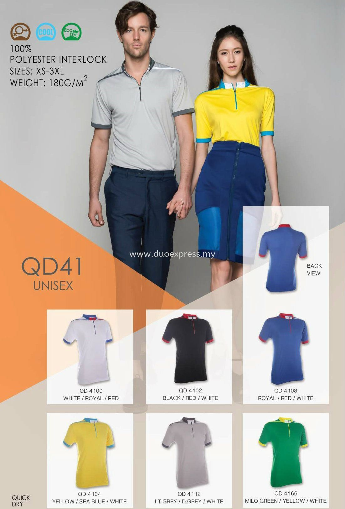 Polo T Shirt MicroFibre- Ready Made QD-41