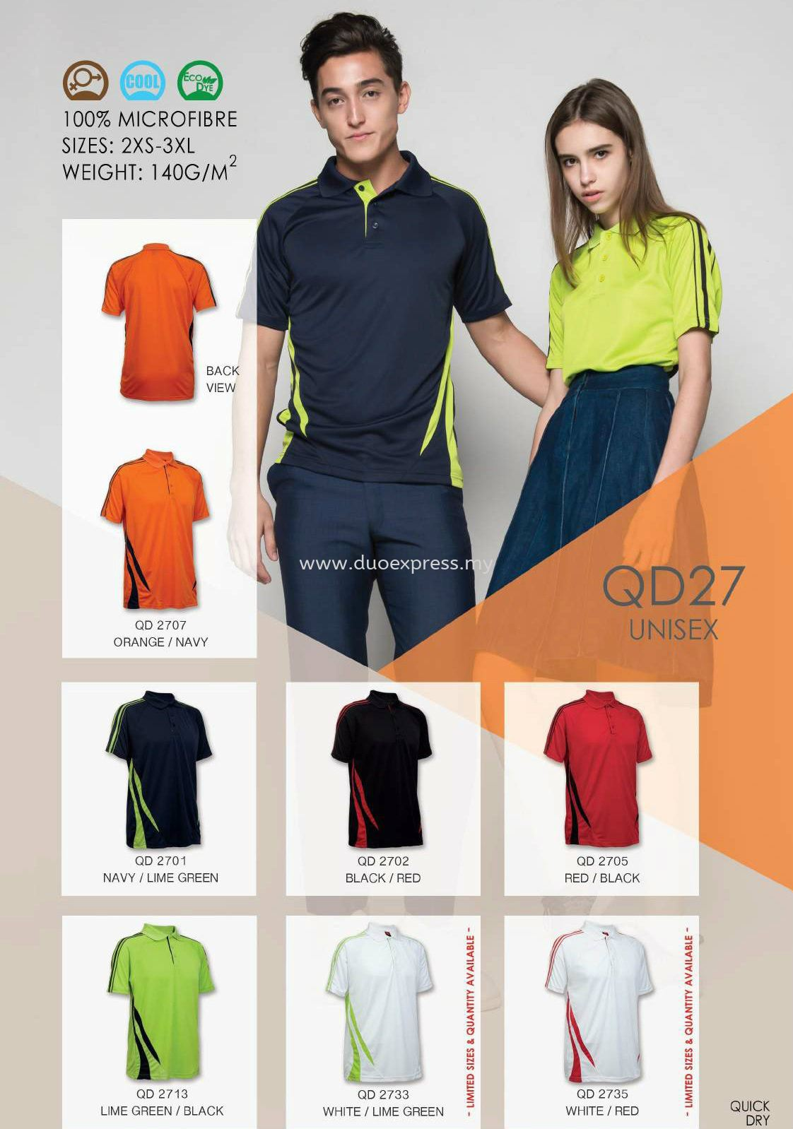 Polo T Shirt MicroFibre- Ready Made QD-27