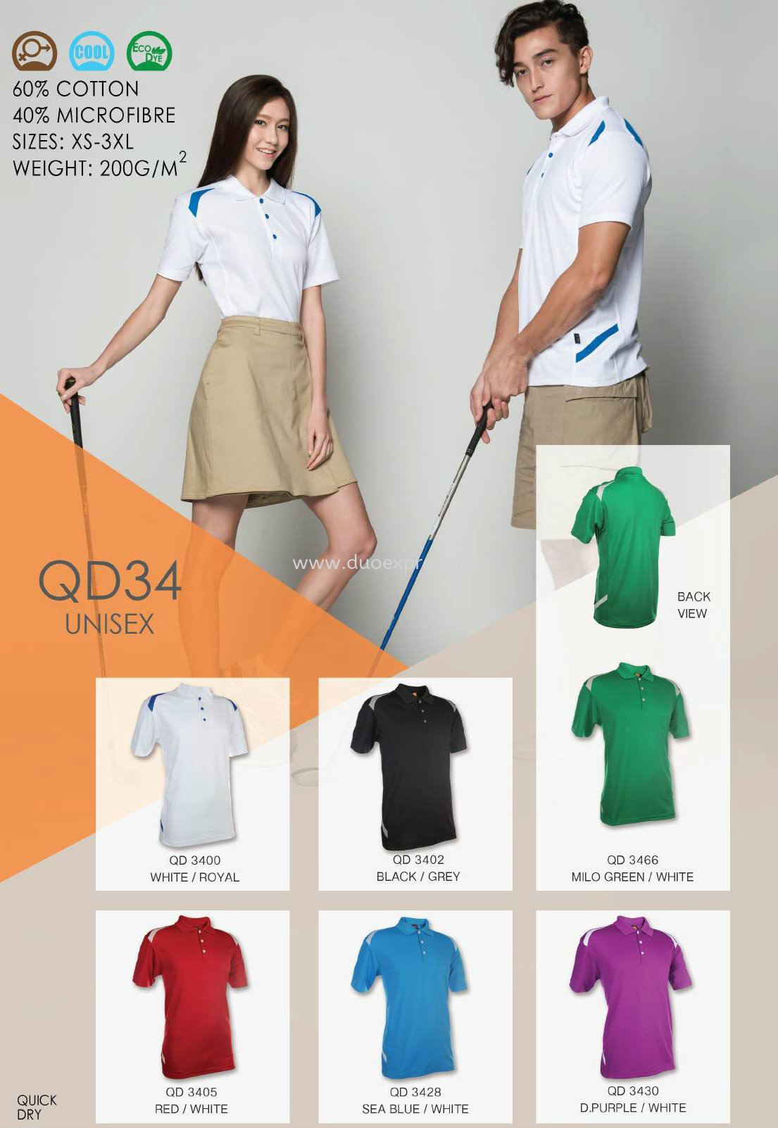 Polo T Shirt MicroFibre- Ready Made QD-34