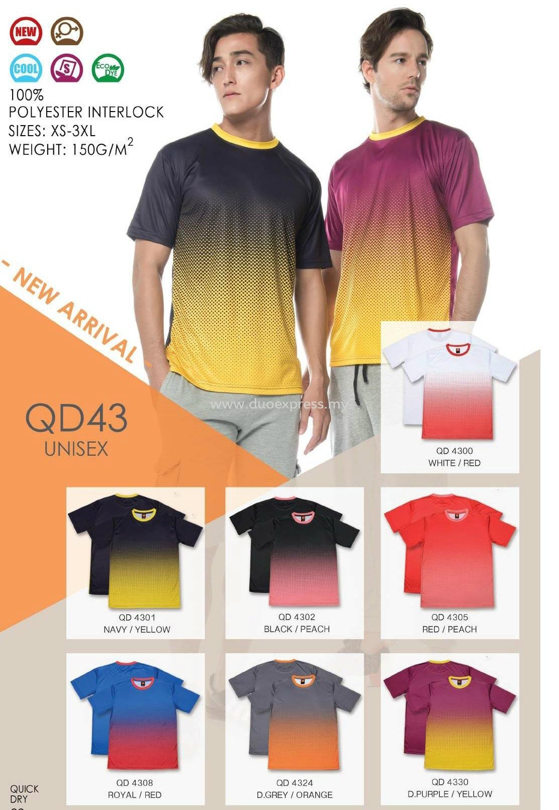 Roundneck Microfibre T-Shirt QD-43