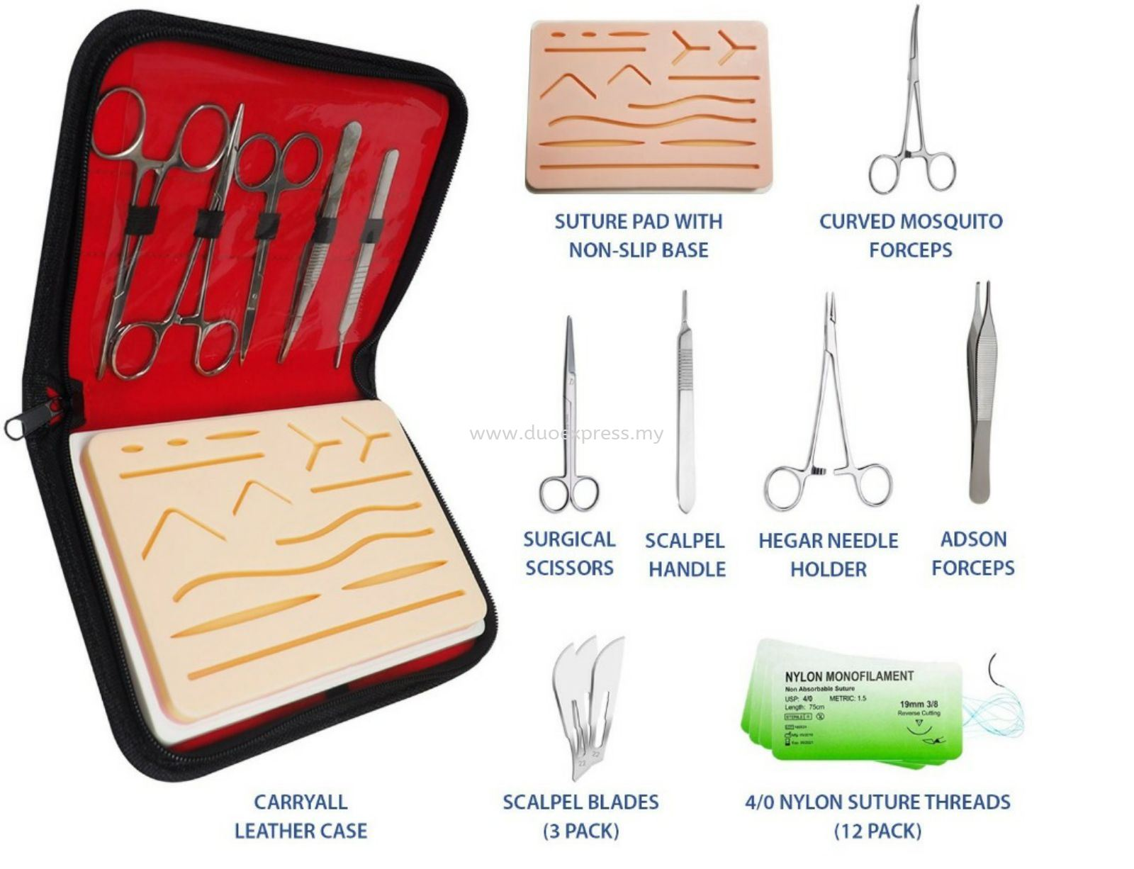 Suture kit + Pre made skin incision skin pad