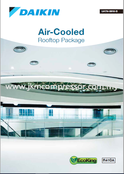 DAIKIN R410A AIR COOLED ROOFTOP PACKAGED UNIT