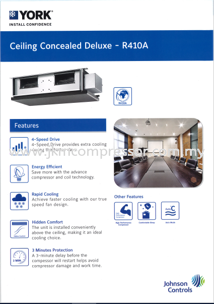 YORK R410A NON-INVERTER CEILING CONCEALED