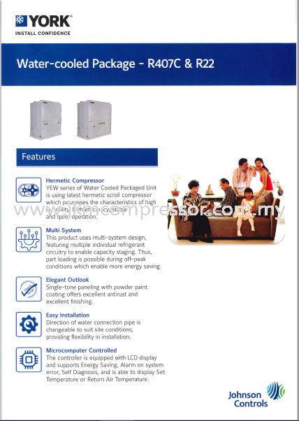 YORK R407C & R22 WATER COOLED PACKAGED