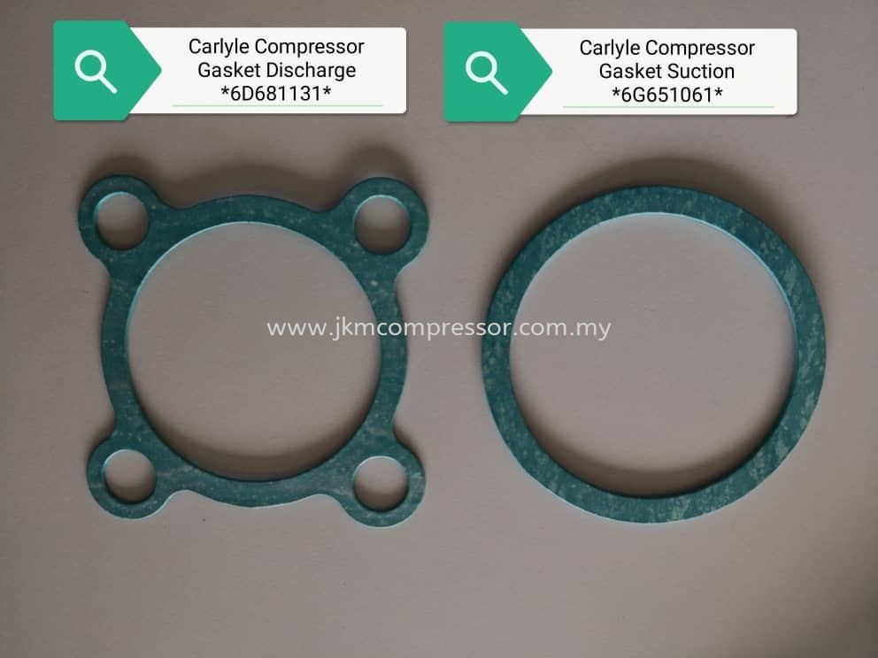 CARLYLE COMPRESSOR DISCHARGE & SUCTION GASKET