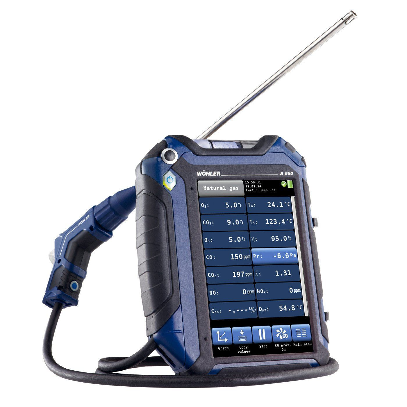 WOHLER A 550 FLUE GAS ANALYZER STANDARD SET