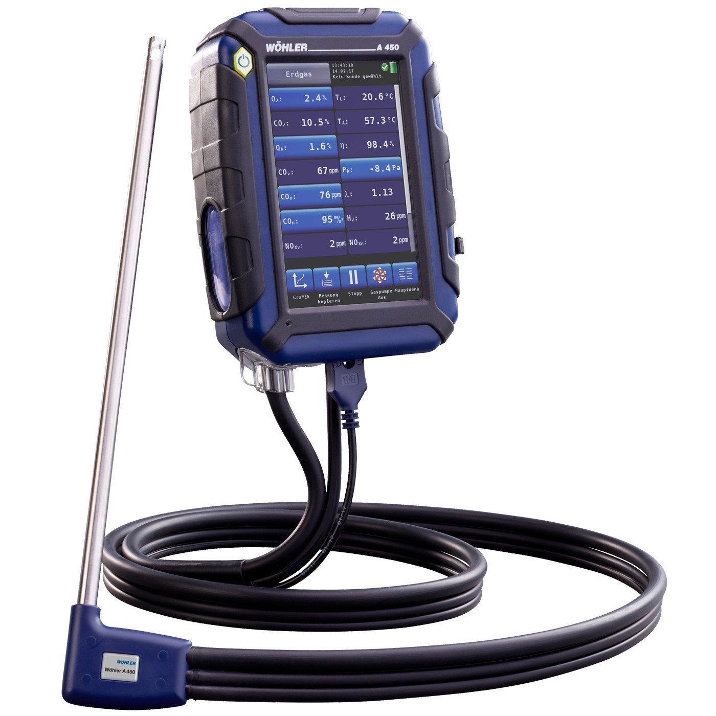 WOHLER A 450 H FLUE GAS ANALYZER BASIC SET