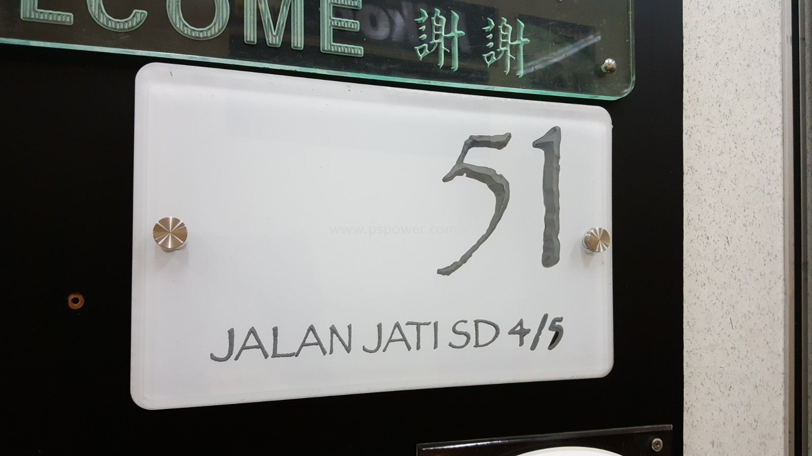Acrylic Signs with House number