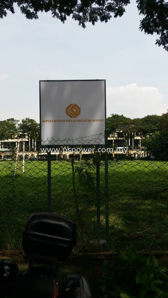 Outdoor Signage - Metal Structure Frame + 3mm ACM Surface with UV inkjet sticker