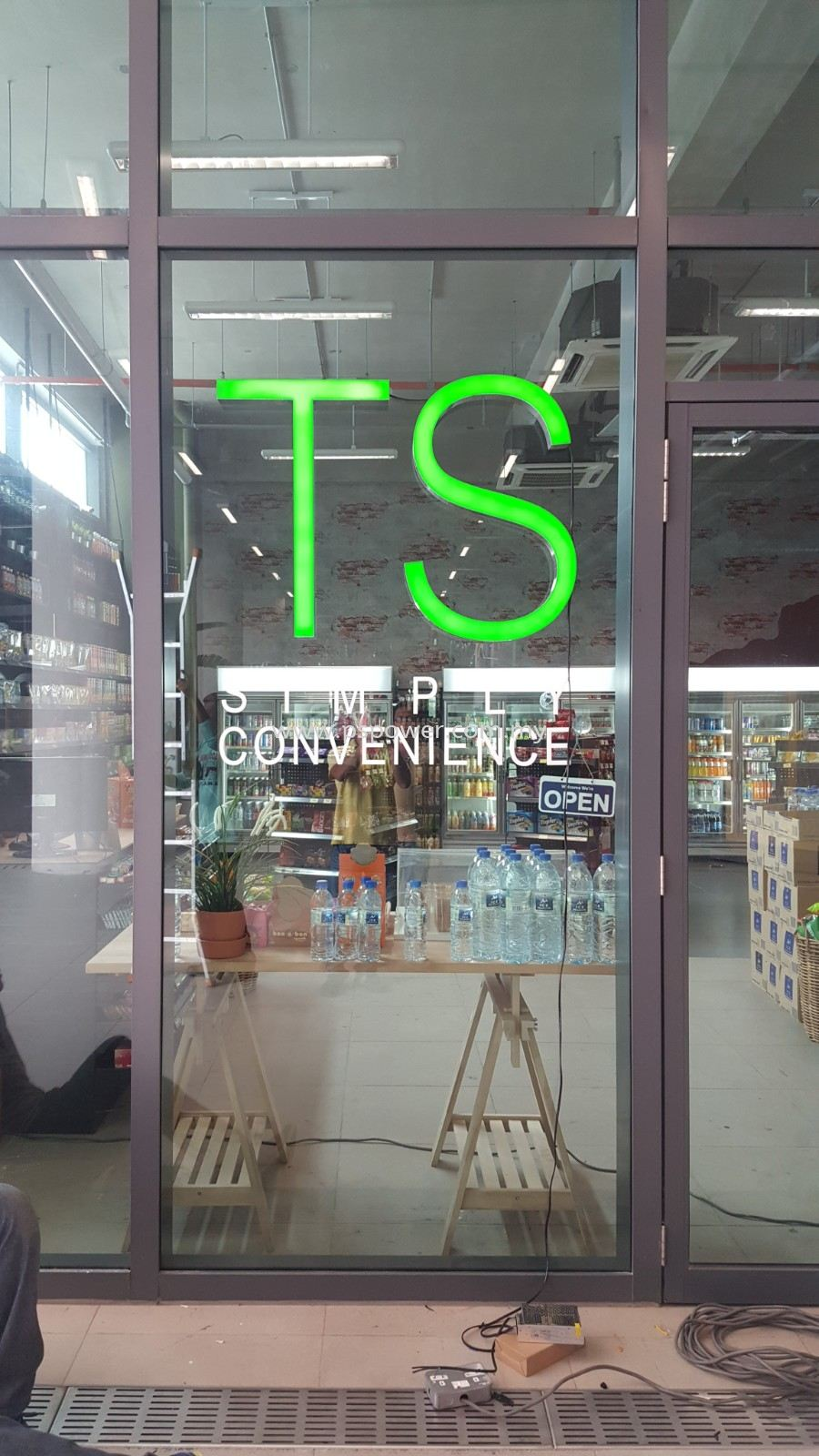 Stainlees Steel Box up and Acrylic surface with Front lit - TS LED Signage
