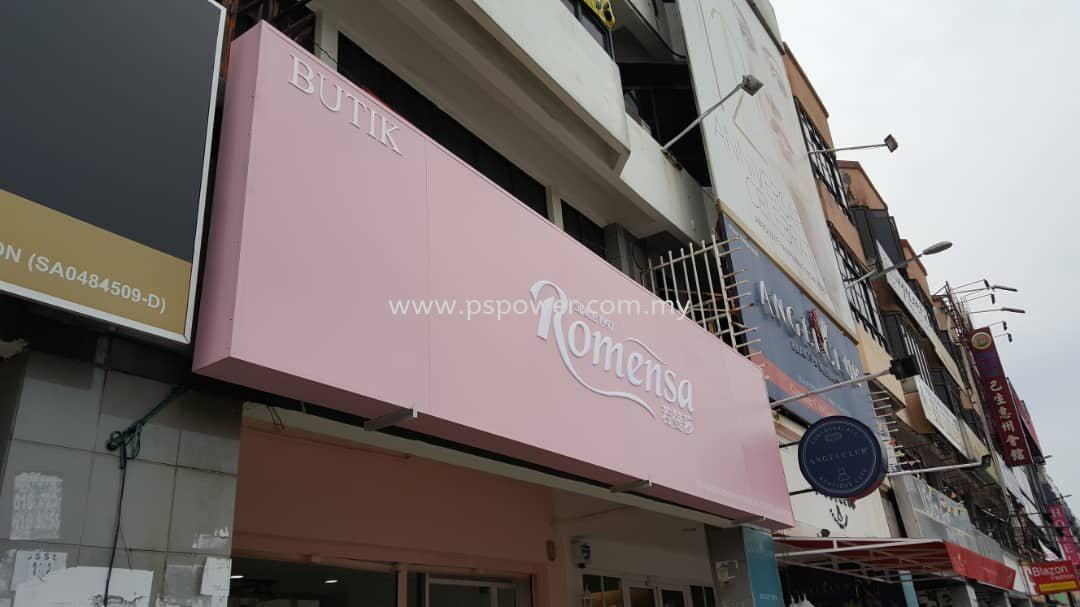 Signboard Romesan - Metal Structure with Acrylic Lettering