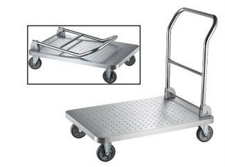 EH Stainless Steel Plat Form Trolley c/w Foldable Handle 1003
