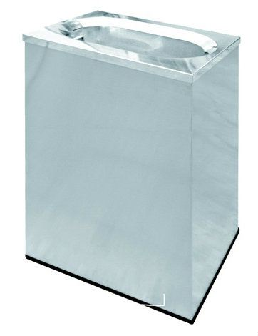 EH Stainless Steel Rectangular Waste Bin c/w Oval Top Opening