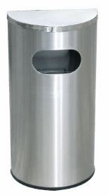 EH Stainless Steel Semi Round Bin c/w Flat Top
