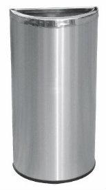 EH Stainless Steel Semi Round Bin c/w Open Top