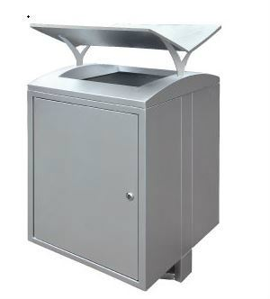 EH Stainless Steel Square Waste Bin c/w Open Top