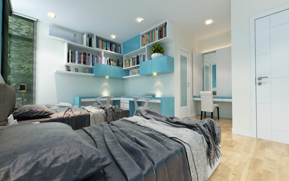 Teenage Room study area