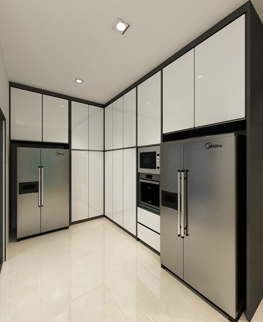 Wet Kitchen with full height cabinet