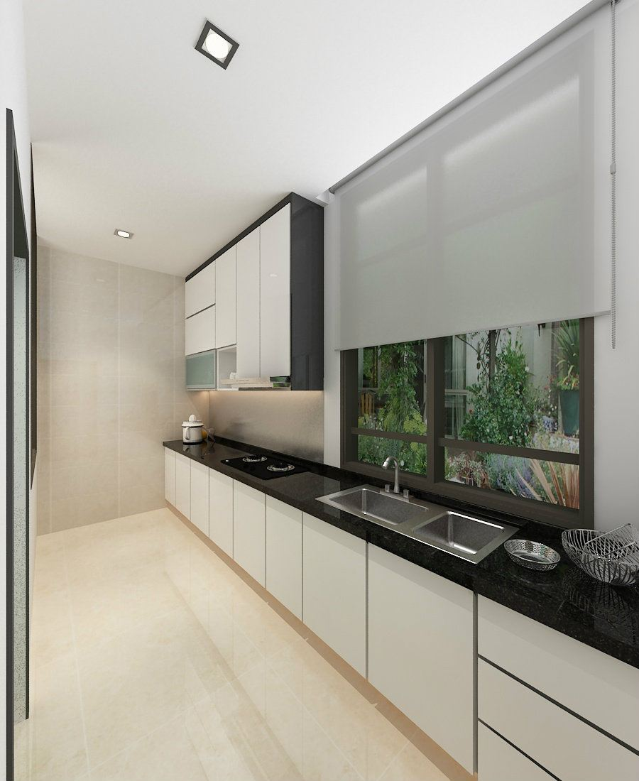 Wet Kitchen with Indian Black top