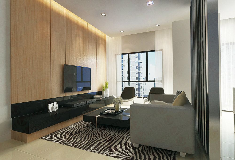open and sophisticated environment for family life and entertaining.