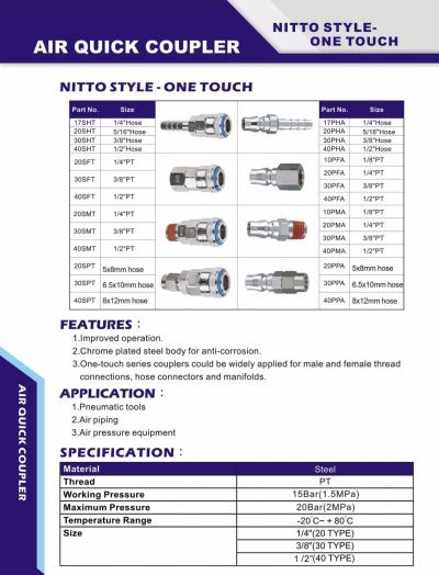 THB ONE TOUCH COUPLER