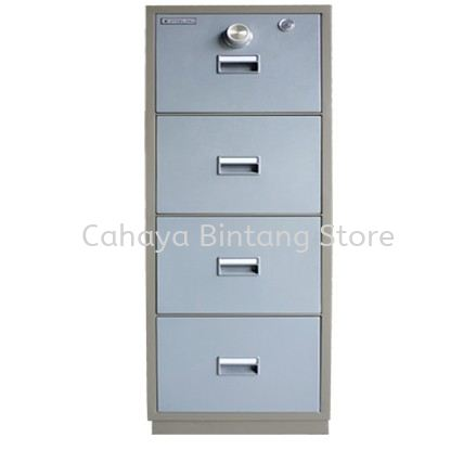 FIRE RESISTANT CABINET 4 DRAWER (CENTRAL LOCKING) BLUE GREY COLOR