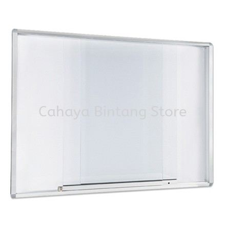 ALUMINIUM SLIDING GLASS CABINET WHITEBOARD