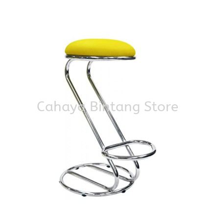 HIGH BARSTOOL CHAIR C/W ROUND CHROME METAL BASE ST10