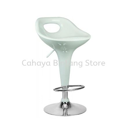 HIGH BARSTOOL CHAIR C/W ROUND CHROME METAL BASE ST22