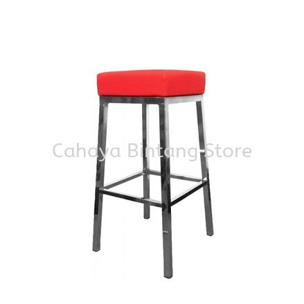 HIGH BARSTOOL CHAIR C/W CHROME METAL BASE ST18