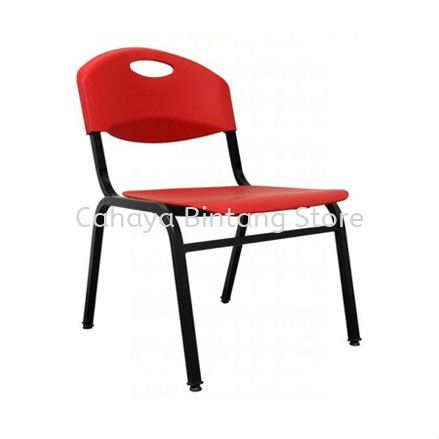 SC13L STUDENT CHAIR WITHOUT ARMREST C/W 4 LEGGED EPOXY BLACK METAL BASE