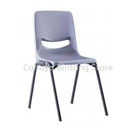 SC7 STUDENT CHAIR WITHOUT ARMREST & 4 LEGGED EPOXY BLACK METAL BASE