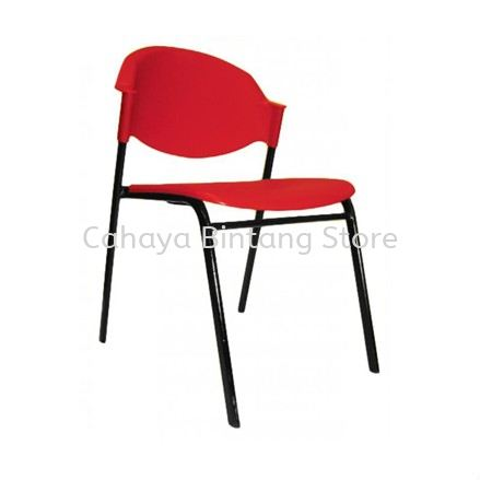 SC10 STUDENT CHAIR WITHOUT ARMREST C/W 4 LEGGED EPOXY BLACK METAL BASE