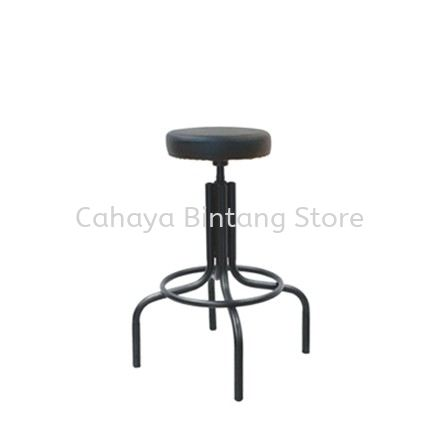 HIGH PRODUCTION STOOL C/W EPOXY BLACK METAL BASE PS1