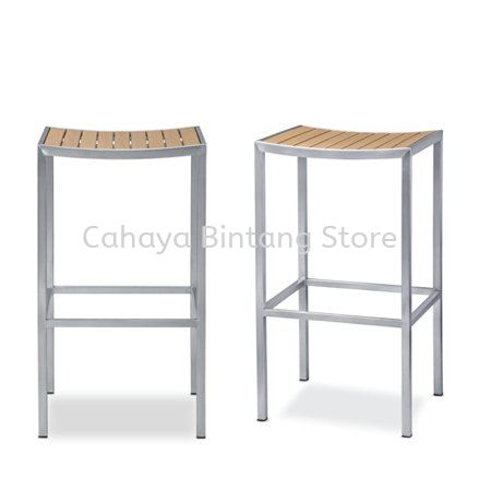 HIGH BARSTOOL CHAIR C/W EPOXY GREY METAL BASE AS941