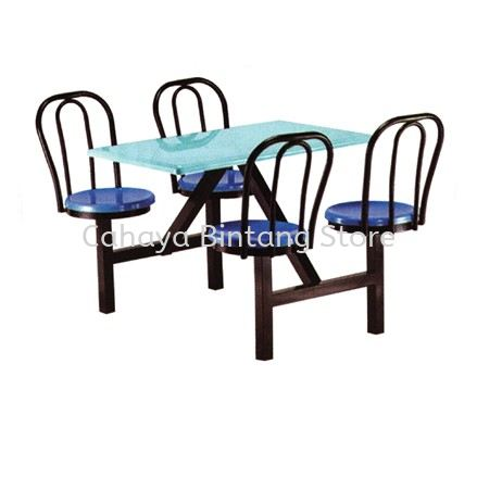 4 SEATER FIBREGLASS TABLE WITH CHAIR - CS18