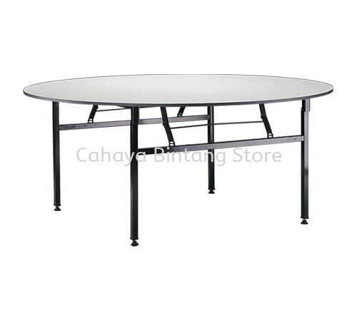 ROUND BANQUET OFFICE TABLE (16mmTHK Melamine Top) - banquet table the mines | banquet table bukit jelutong | banquet table jalan raja chulan