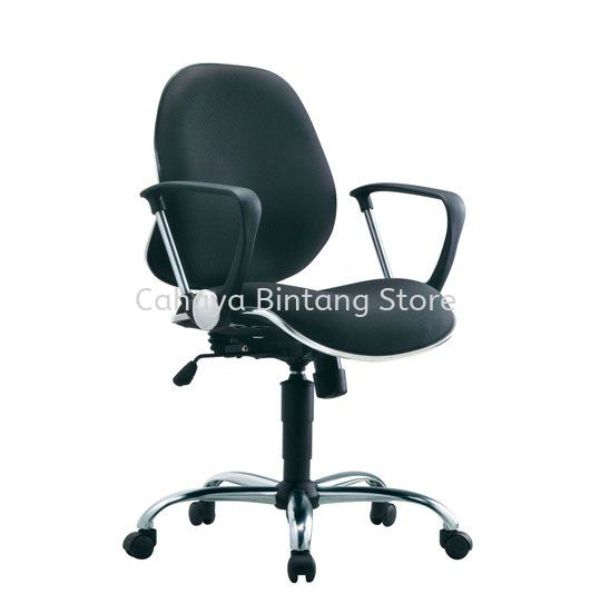 ELIXIR SECRETARIAL LOW BACK FABRIC CHAIR WITH CHROME TRIMMING LINE ACL 272