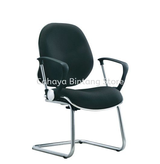 ELIXIR SECRETARIAL VISITOR FABRIC CHAIR WITH CHROME TRIMMING LINE ACL 262