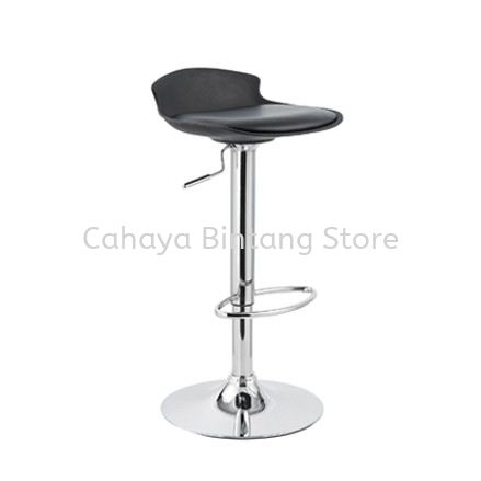 HIGH BARSTOOL CHAIR C/W ROUND CHROME METAL BASE ST23-F