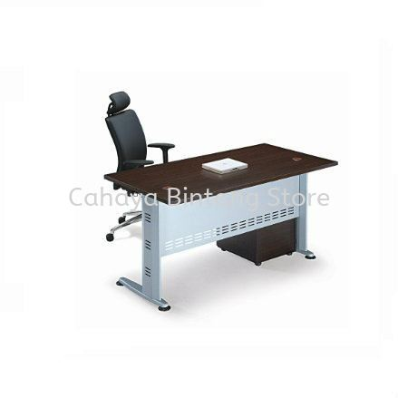 RECTANGULAR WRITING TABLE METAL J-LEG C/W MOBILE 3D QT128 SET 2
