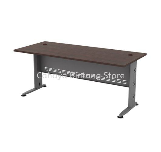 RECTANGULAR WRITING TABLE METAL J-LEG C/W METAL MODESTY PANEL QT 128
