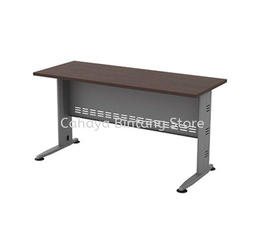 RECTANGULAR WRITING TABLE METAL J-LEG C/W METAL MODESTY PANEL (W/O TEL CAP) QT 126