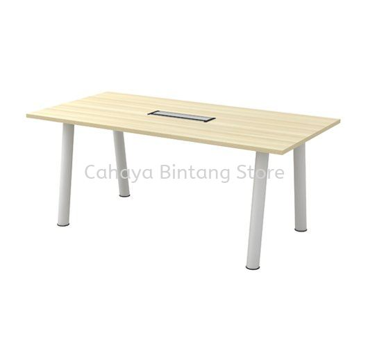 RECTANGULAR MEETING TABLE C/W METAL POLE LEG (INCLUDED FLIPPER COVER) BVC 18