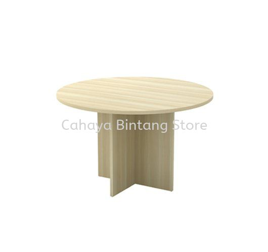 ROUND MEETING TABLE WITH WOODEN BASE EXR 90