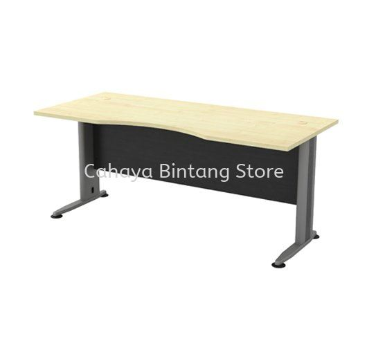 EXECUTIVE TABLE CURVE METAL J-LEG C/W WOODEN MODESTY PANEL TMB 11