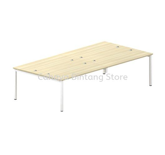 RECTANGULAR WRITING TABLE METAL OCTAGON LEG FOR 4 PERSON ST 127-4
