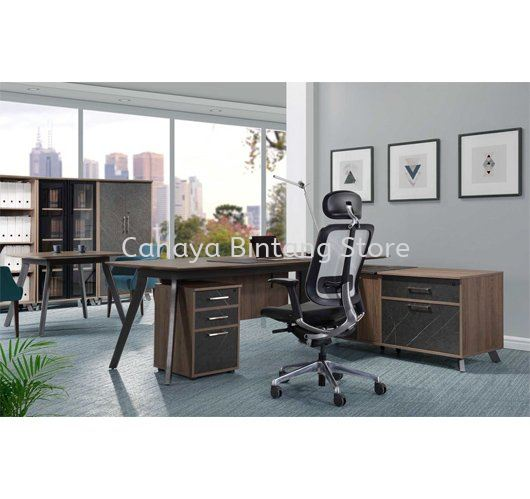 EXECUTIVE TABLE C/W SIDE CABINET 1 PXO 2190