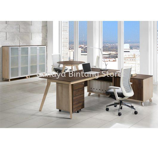 EXECUTIVE TABLE C/W SIDE CABINET 1 PXI 2190